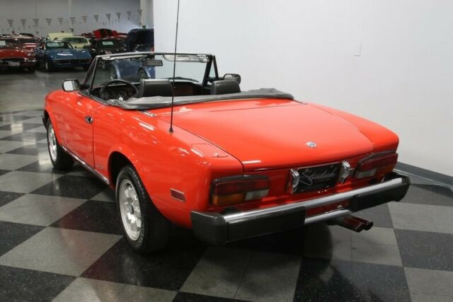 1984 Red Fiat Pininfarina Azzurra Convertible with Black interior
