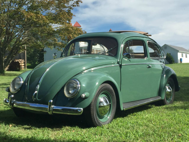 classic vw beetle 1957 oval ragtop for sale photos technical specifications description. Black Bedroom Furniture Sets. Home Design Ideas