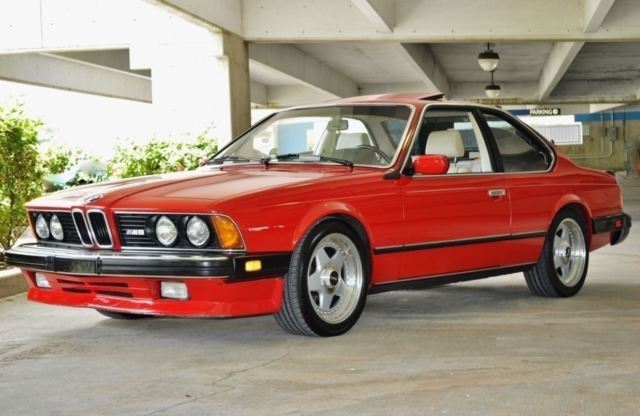 1987 BMW M6 2 Door Coupe