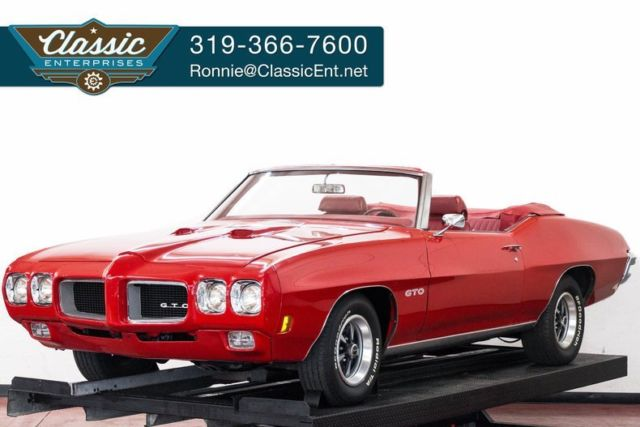 1970 Pontiac GTO Convertible with bucket seats stereo Rally Wheels