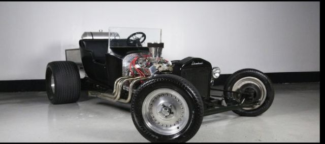 1923 Ford Model T Black with Green pin-striping