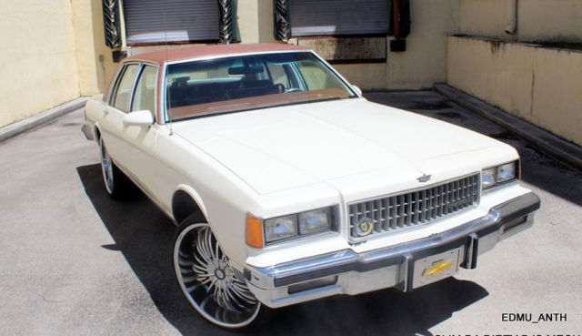 1986 Chevrolet Caprice Brougham Box Chevy Tuned Race Motor Pro Audio