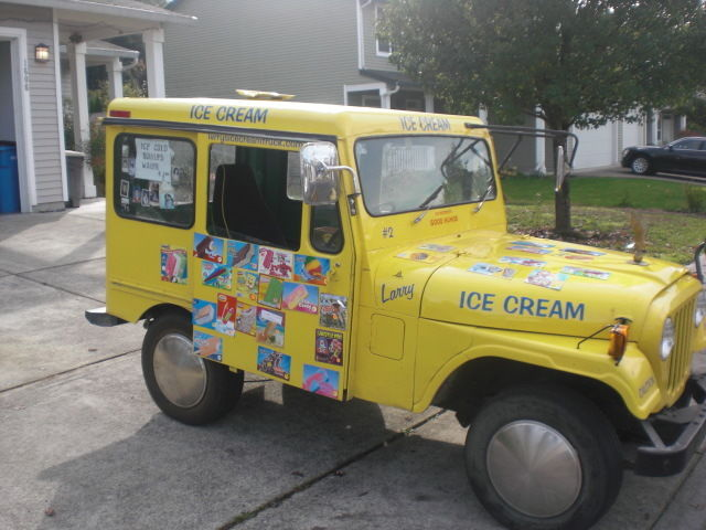 dandy ice cream truck vintage 1978 postal jeep for sale