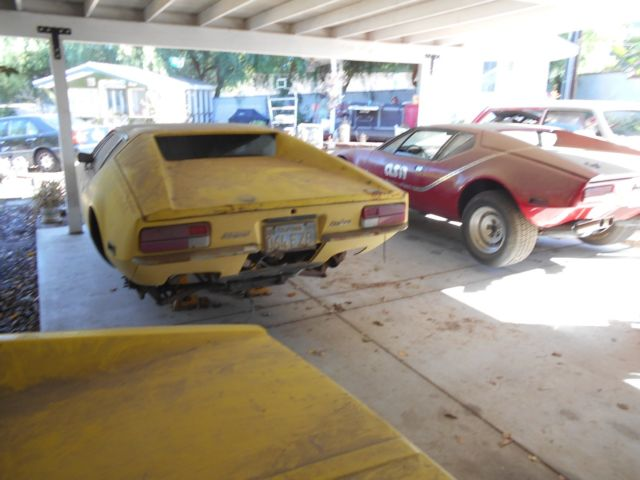 Detomaso Pantera Early 1972 Ca Blue Plate Barn Find Project Low