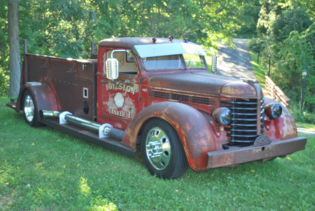 diamond t rat rod patina cummins fire truck old school for. Black Bedroom Furniture Sets. Home Design Ideas