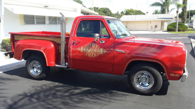 dodge little red express red color with wooden sides excellent shape. Cars Review. Best American Auto & Cars Review