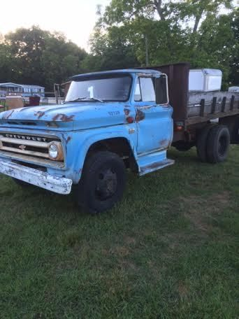Dump Truck Chevy C60 1966 Good Mechanical Condition Blue Large Dump