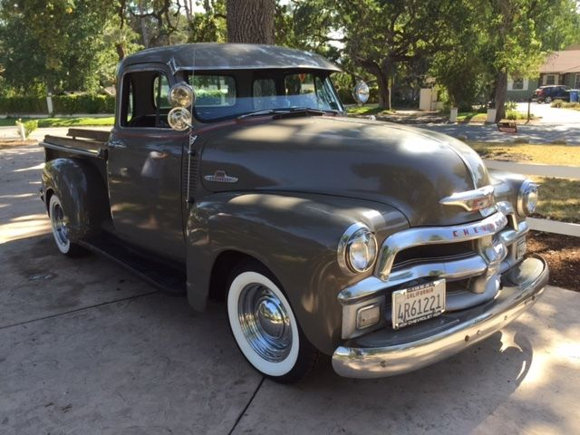 early 1955 chevy 5 window pick up truck for sale photos