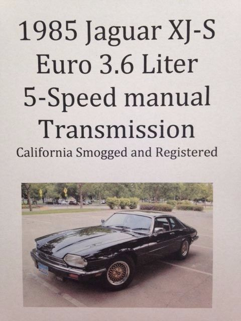 euro 3 6 liter 6 cylinder with 5 speed manual transmission for sale rh topclassiccarsforsale com jaguar xj6 manual gearbox jaguar xjs manual transmission for sale