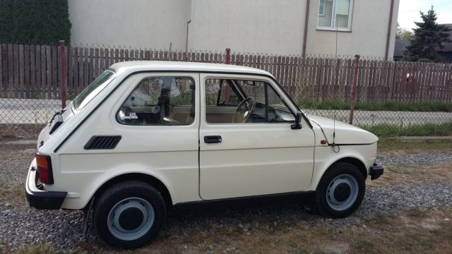 fiat 126 1988 pearl white black leather interior in chantilly va from poland for sale. Black Bedroom Furniture Sets. Home Design Ideas