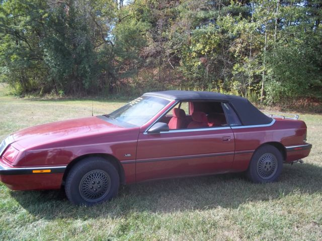 Fine 1991 Crysler Lebaron Convertible 78 Kmiles 3 0 V6 Auto Loaded Sweet