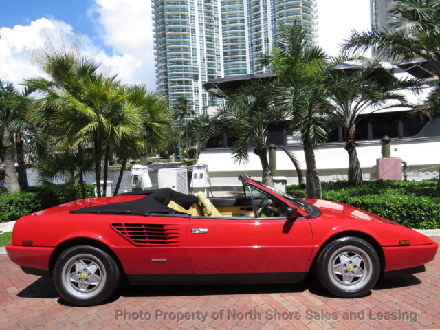 florida classic 1988 5 red ferrari mondial convertible 5 spd abs investment car for sale photos. Black Bedroom Furniture Sets. Home Design Ideas