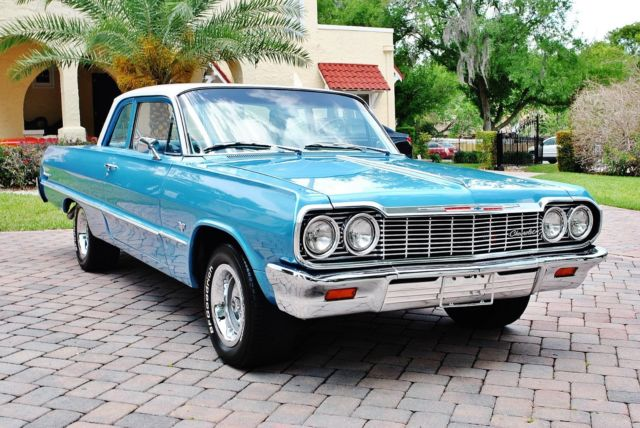 1964 Chevrolet Biscayne Hardtop Fully Restored 348 V8 Tri-Power Beautiful