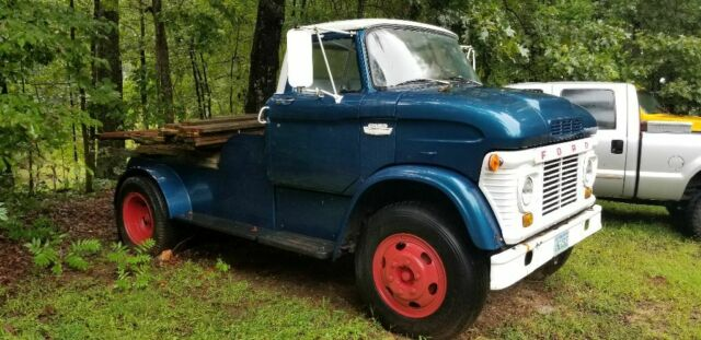 1965 Blue & White Ford Other custom 5th wheel design with Blue interior