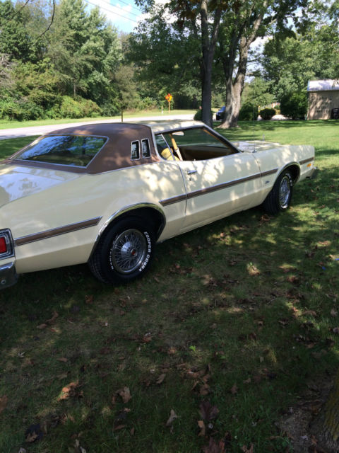 1976 Ford Cream Ford Torino Elite Coupe with Tan interior