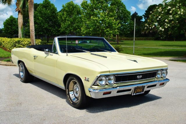 1966 Chevrolet Chevelle SS Convertible #'s Matching 396 Buckets Console