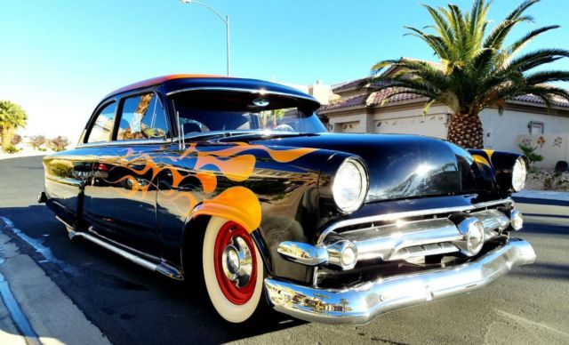 1954 Ford Mainline SHAVED 2 DR  DOOR POPPERS