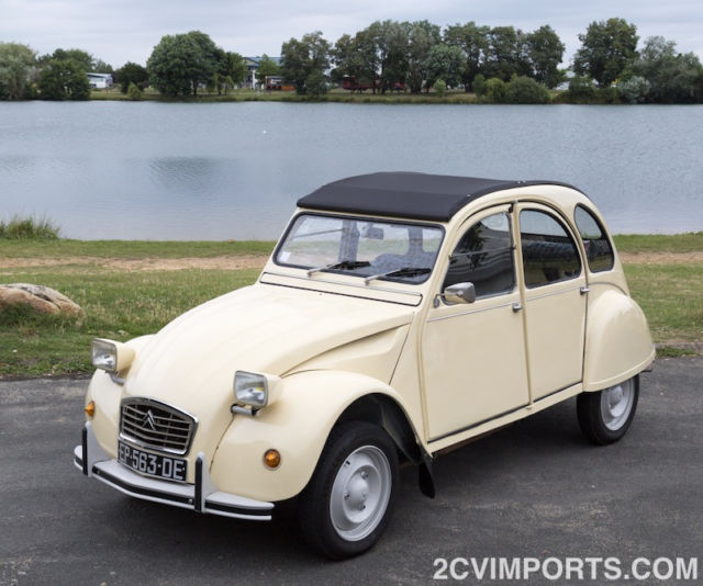 Fully-Restored Beige Citroen 2cv With Galvanized Chassis