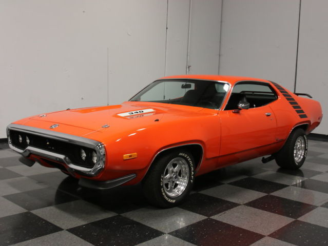 FULLY RESTORED MOPAR, HEMI ORANGE ON BLACK, 340 V8, 4BBL ...