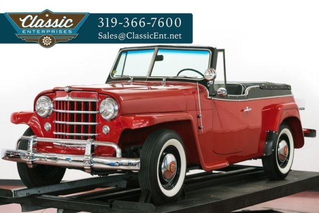 1951 Willys Jeepster Hurricane 4 cylinder with overdrive transmission