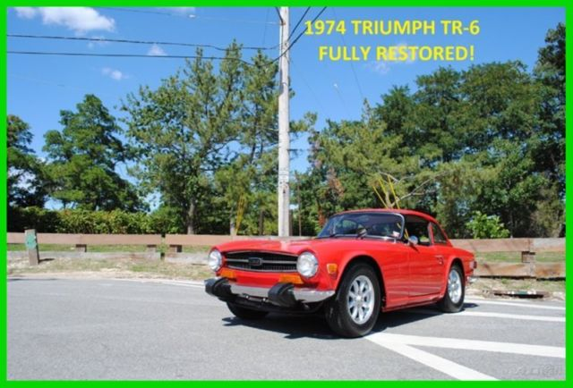 1974 Triumph TR-6 TR6 WITH FACTORY REMOVABLE HARD TOP