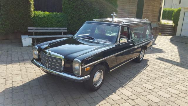 Funeral coach mercedes benz hearse w115 8 200 diesel for Mercedes benz hearse