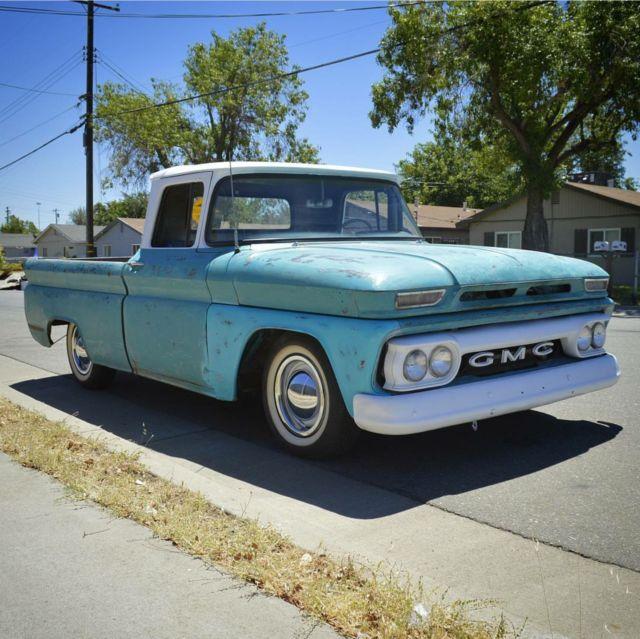 Gmc short bed fleetside rat hot rod custom pickup truck patina 60 61 63 64 65 66 for sale