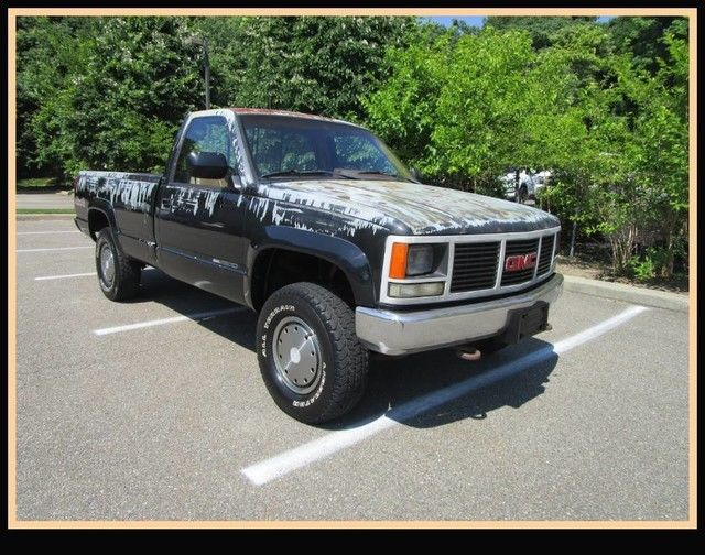 gmc sierra 4x4 2500 8 foot bed pick up for sale photos technical specifications description. Black Bedroom Furniture Sets. Home Design Ideas