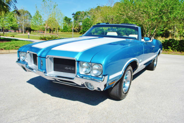 1971 Oldsmobile 442 Convertible Tribute Buckets Console Factory A/C