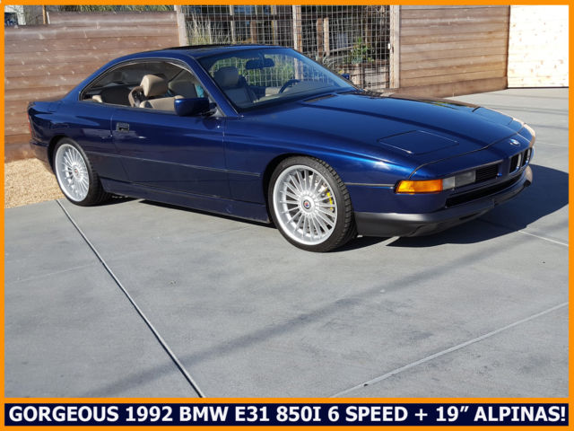 GORGEOUS CLASSIC 1992 BMW E31 850I V12 RARE 6 SPEED STICK 19 ALPINAS MORE