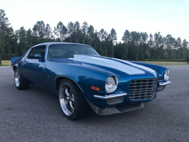 1972 Blue Chevrolet Camaro Coupe with Black interior