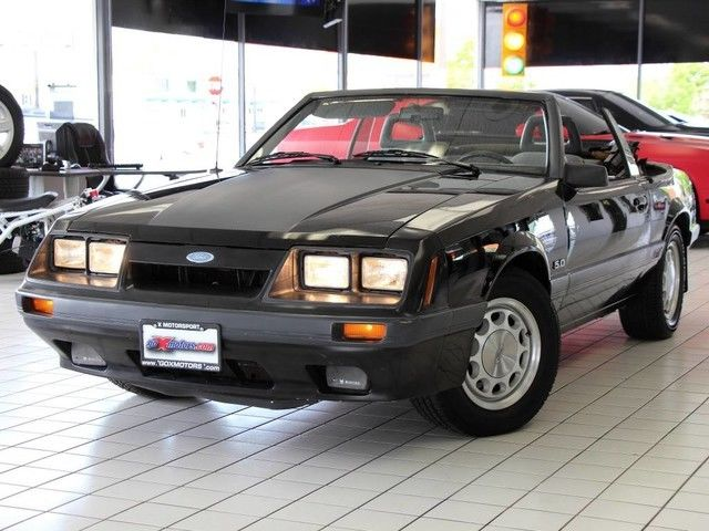 1986 Ford Mustang GT Convertible 5-Speed New Tires California Car