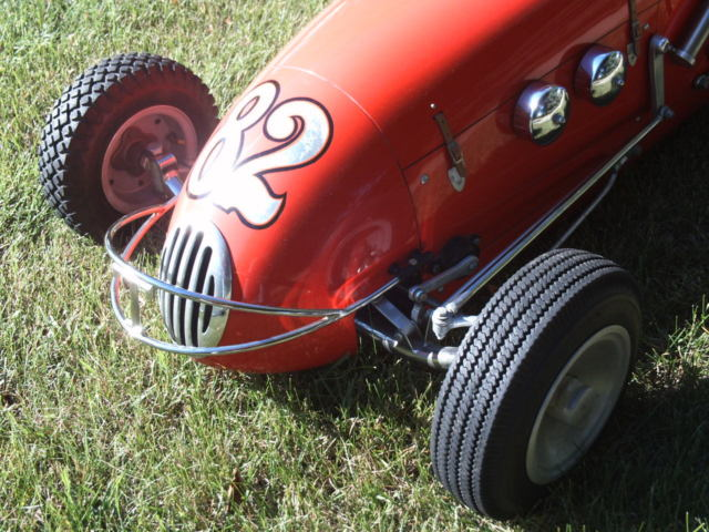 Half Midget Indianapolis Racecar Collector Custom Replica Historic Turner Offy on Adult Size Pedal Cars