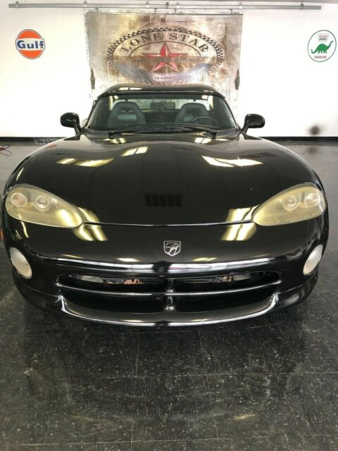 1994 Black Dodge Viper Coupe with Black interior