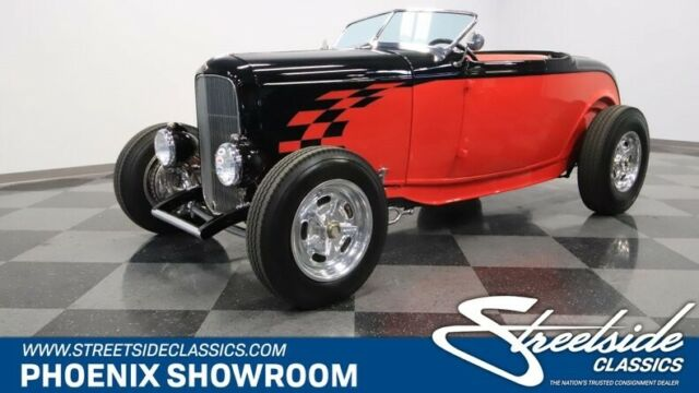 1932 Black Ford Other Roadster Roadster with Red interior