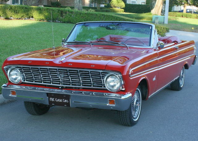 Highly Desired Red 1964 Ford Falcon Futura Convertible 2k Mi