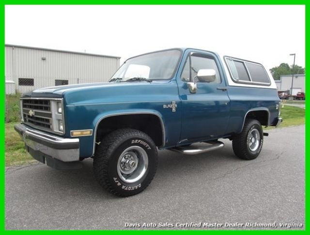 1987 Chevrolet Blazer Silverado K5 4X4 Classic SUV Power Options Tow