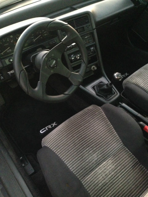 honda black crx si 1989 very clean interior 137k civic 5speed sunroof extra rims for sale. Black Bedroom Furniture Sets. Home Design Ideas