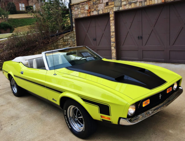 1972 Ford Mustang CONVERTIBLE RARE BRIGHT LIME, LIKE 71,73,1971,1973