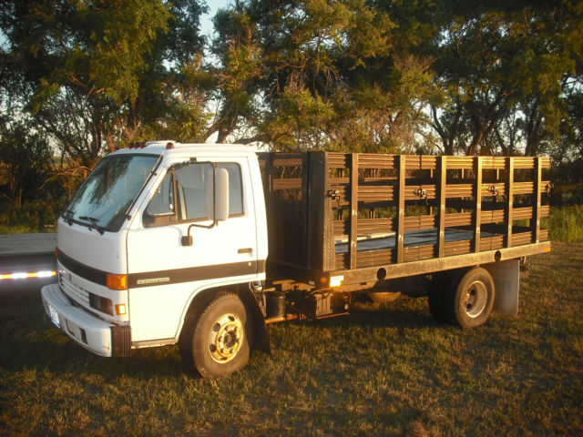isuzu npr diesel 1990 flatbed with removable sides for. Black Bedroom Furniture Sets. Home Design Ideas