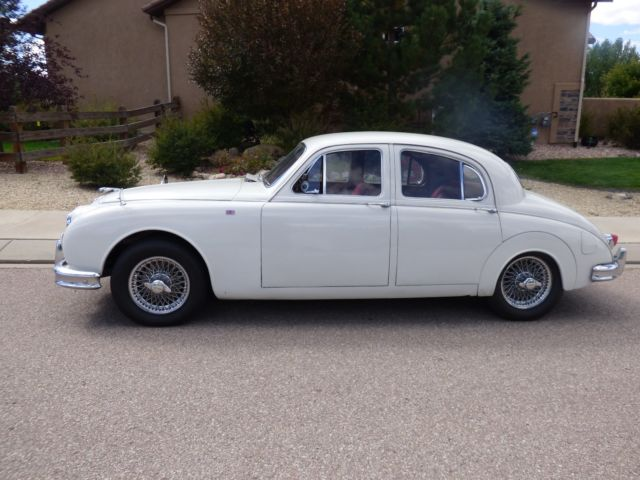 1959 White Jaguar Other Sedan with Red interior