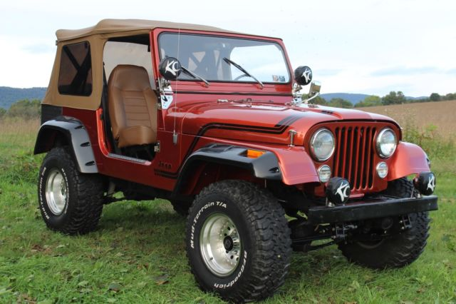 Jeep CJ7 AMC 360 V8 manual Wrangler tub conversion Frame off