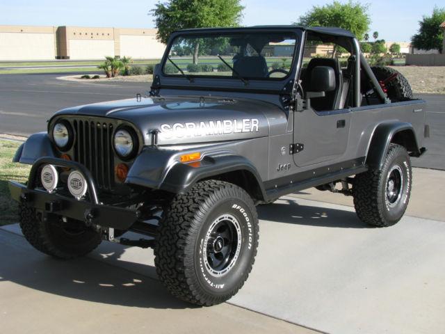 jeep cj8 cj 8 scrambler frame off restoration mopar fuel injected gray for sale photos. Black Bedroom Furniture Sets. Home Design Ideas