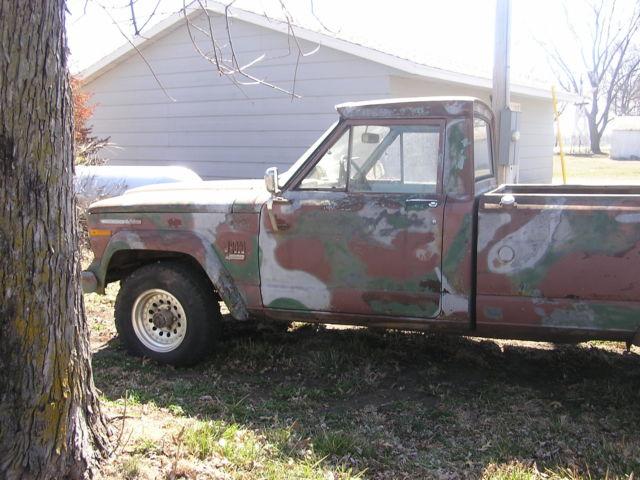 jeep pickup gladiator 4x4 nebraska j4000 350buick v8 1970 automatic camo vintage for sale. Black Bedroom Furniture Sets. Home Design Ideas