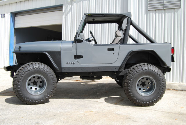 jeep yj wrangler 4x4 inline 6 cylinder grey black accessories. Cars Review. Best American Auto & Cars Review
