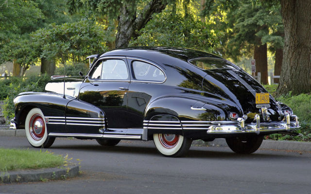 Knockout 1946 Pontiac Fastback Coupe Bone Stock