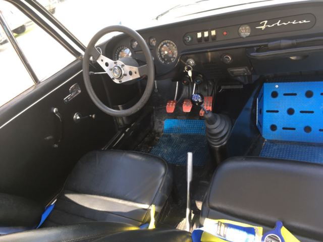 1969 Gray Lancia Fulvia Coupe with Black interior
