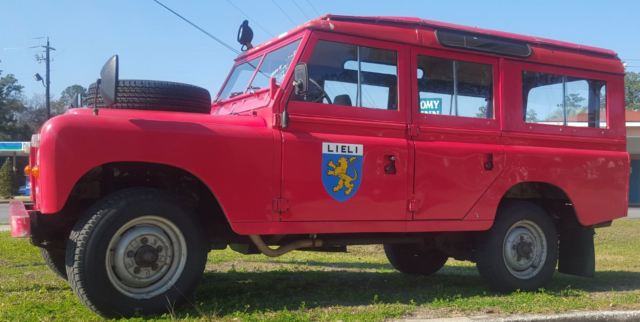 1977 Land Rover 109 hard  top  original fire dept truck