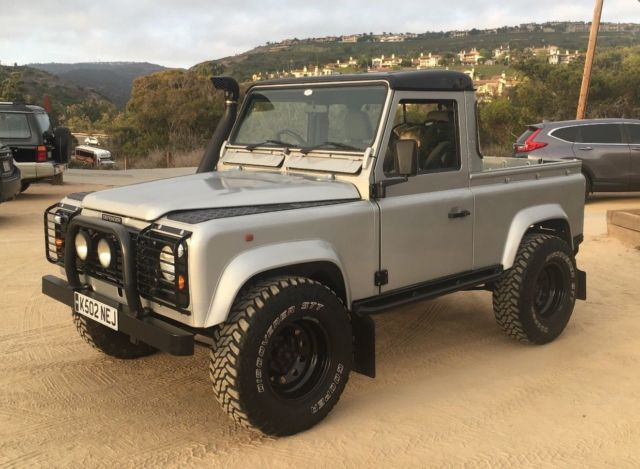land rover defender 90 pickup truck for sale photos technical