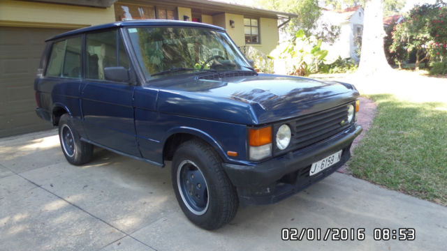 1990 Land Rover Range Rover 2 Door